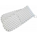 Portland Check Grey double oven glove